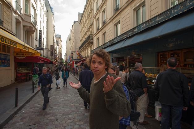 Første kviledag reiste me til Paris, men hadde ikkje peiling på kva me skulle gjere der.